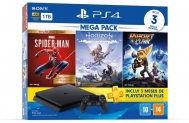 Console Playstation 4 1TB Mega Pack 15 – Spider-Man: Goty Edition Horizon Zero Dawn: Complete Edition e Ratchet & Clank