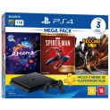 Console Playstation 4 Slim 1TB Bundle 17 + Dreams + Marvel's Spider-Man Goty Edition + Infamous Second Son + PS Plus 3 Meses