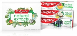 Kit 4 Unidades Creme Dental Colgate Naturals Extracts – 40g