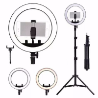 Kit Completo Ring Light Com Tripé Dimmer Youtuber Selfie Pro