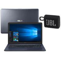 "Notebook Asus Core i5-6200U 8GB 1TB Tela 15.6"" Windows 10 X543UA-GQ3154T + Caixa de Som Portátil JBL Go 3 Preto"