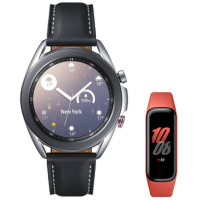 Samsung Galaxy Watch3 45mm LTE Prata Galaxy Fit2 1,1″ AMOLED Monitoramento Cardíaco Vermelho